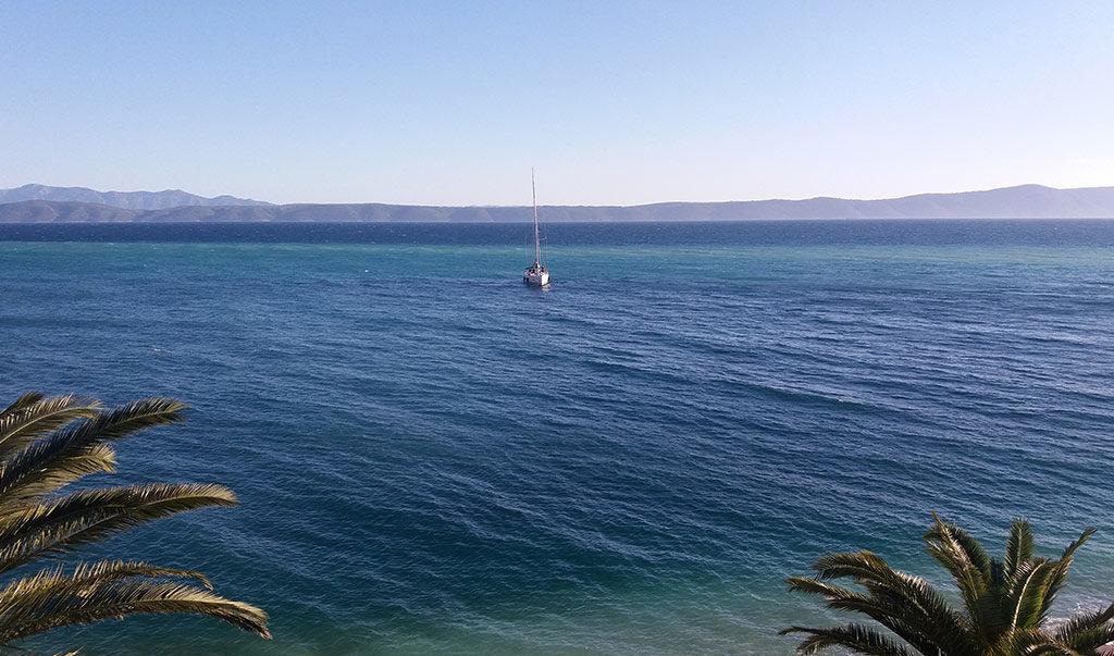 uvala Čaklje - pogled na more
